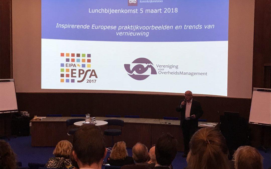 Innovatie en vernieuwing in Europa | Verslag lunchbijeenkomst | 5 maart 2018